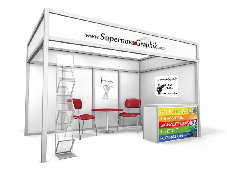 Supernova graphik r alise votre publicit pour salon for Stand foire